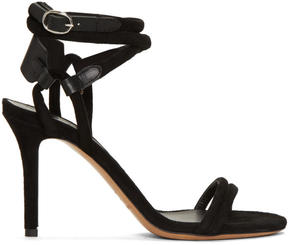 Isabel Marant Black Aoda Heeled Sandals