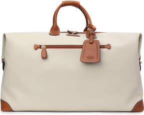 Bric's Brics Firenze leather medium holdall, Panna