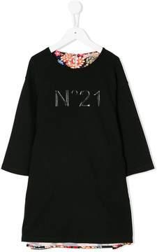 No.21 Kids floral jumper dress