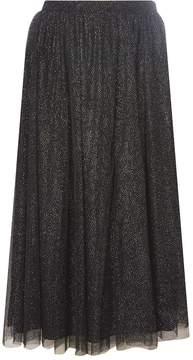 Dorothy Perkins Black Sparkle Tulle Midi Skirt