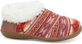 Toms Brown Twill Sunset Stripe Slippers
