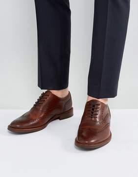 Aldo Bartolello Leather Brogue Shoes In Tan