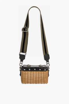 Sonia Rykiel | Le Jardin Faux Croc Wicker Basket Bag