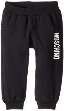 Moschino Kids Sweatpants w/ Logo on Front Boy's Casual Pants