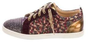 Christian Louboutin Gondola Strass Low-Top Sneakers w/ Tags