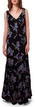 ECI Women's Embroidered Mesh Maxi Dress