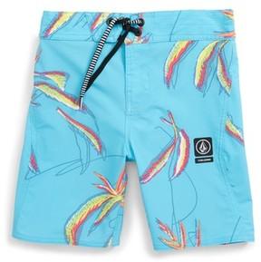 Volcom Boy's Tropical Print Board Shorts
