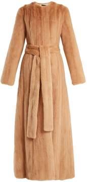 Brock Collection Freda mink-fur coat