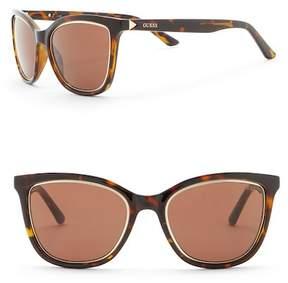 GUESS 54mm Cat Eye Sunglasses