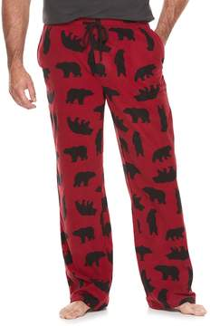 Croft & Barrow Big & Tall Patterned Microfleece Lounge Pants