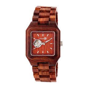 Earth Wood Black Rock Unisex Red Bracelet Watch-Ethew4403