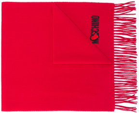 Moschino heart patch scarf
