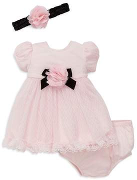 Little Me Girls' Puff-Sleeve Lace Dress - Baby
