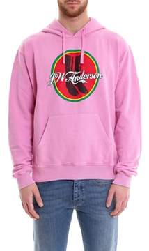 J.W.Anderson Men's Pink Cotton Sweatshirt.