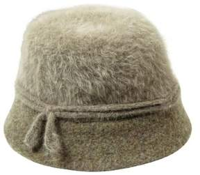Nine West Women's Metallic Angora Cloche Hat (OS, Brown)