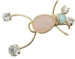 Violeta BY MANGO Stones metallic brooch