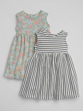 Gap Floral Fit and Flare Dress (2-Pack)