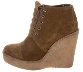 Pierre Hardy Suede Wedge Boots