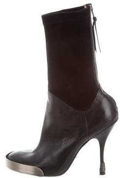 Jerome C. Rousseau Leather Round-Toe Ankle Boots