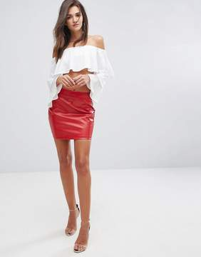 Fashion Union Faux Leather Bodycon Skirt