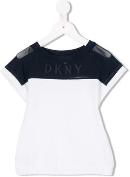 DKNY short sleeve logo embroidered T-shirt