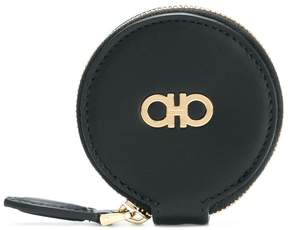Salvatore Ferragamo round zipped Gancio wallet
