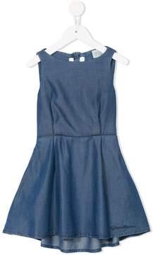 Emporio Armani Kids flared sleeveless denim dress