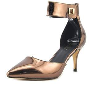 Nicole Miller Brandy Women Pointed Toe Synthetic Slingback Heel.