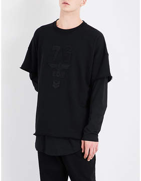 Boy London Army Layered cotton-jersey sweatshirt