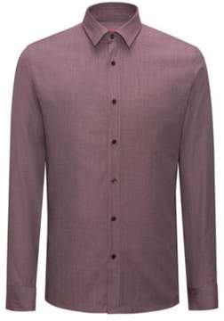 HUGO Boss Cotton-Silk Sport Shirt, Extra Slim Fit Elisha 15 Red