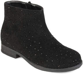 Journee Collection Black Clancy Ankle Boot