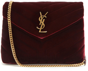 SAINT LAURENT Loulou velvet shoulder bag