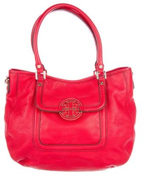 Tory Burch Leather Amanda Satchel - RED - STYLE