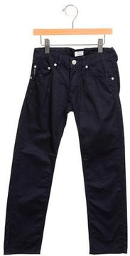 Armani Junior Girls' Straight-Leg Mid-Rise Pants
