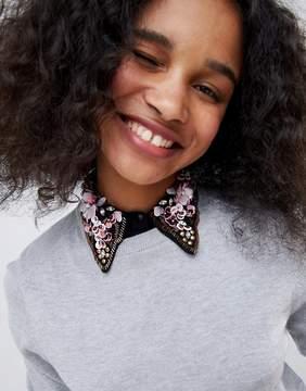 Asos Embellished Scalloped Collar Bib