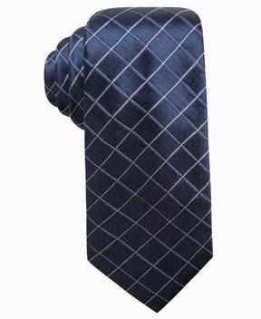 Alfani Men's Grid Slim Silk Tie, Created for Macy's