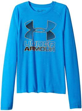Under Armour Kids Hybrid Big Logo Long Sleeve Tee Boy's T Shirt