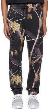 Alexander Wang Black Camo Winter Lounge Pants