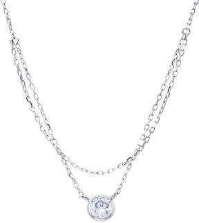 Bliss Cubic Zirconia & Sterling Silver Bezel Pendant Necklace