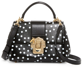 Dolce & Gabbana Polka Dot Small Leather Satchel - WHITE - STYLE