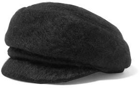 Eugenia Kim Carmella Mohair-blend Cap - Black