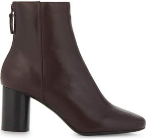 Sandro Ladies Burgundy Sacha Leather Ankle Boots