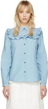 A.P.C. Indigo Chambray Memphis Shirt