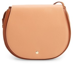 Sole Society Jules Two-Tone Faux Leather Saddlebag - Pink
