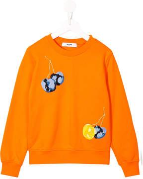 MSGM cherry embroidered sweatshirt