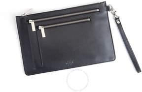 Royce Leather Royce Black Saffiano Leather RFID Blocking Cross Body Bag