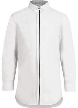 River Island Boys white tipped front long sleeve shirt