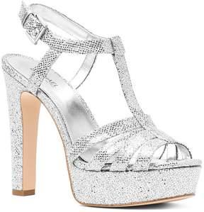 Michael Kors MICHAEL Women's Catalina Glitter T-Strap Platform Sandals