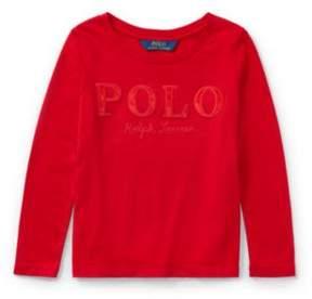 Polo Ralph Lauren Long-Sleeve T-Shirt Park Ave Red 3T