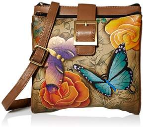 Anuschka Anna by Hand Painted Leather Women's Triple Compartment Organizer